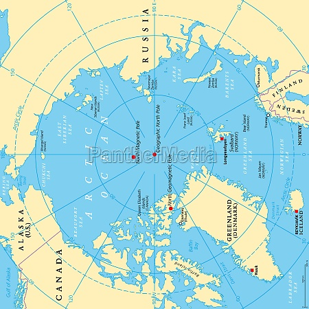 geographic position of the north pole