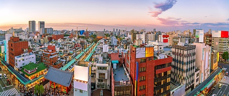 top view of asakusa area in