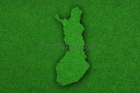 map of finland on green felt