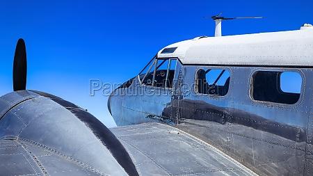close up pf an historical aircraft
