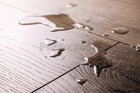 waterproof flooring spilled water drops