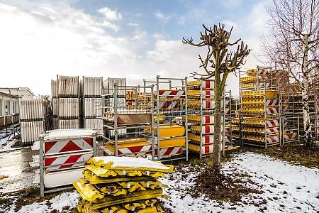 stack of barrier planks