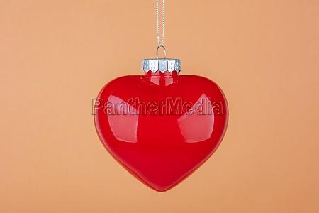 beautiful christmas ball heart