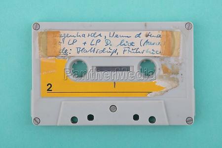 self labeld old audio tape