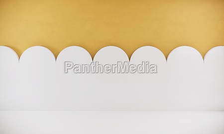 wall design with yellow and white