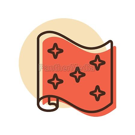 wallpaper roll vector flat icon