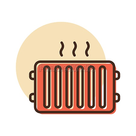 radiator heater vector flat icon