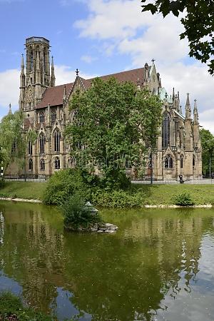 johannes church and feuersee stuttgart