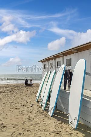 surfboards in al cartello beach near