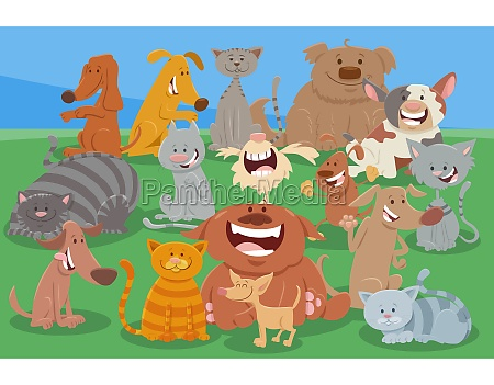 cartoon dogs and cats funny animal