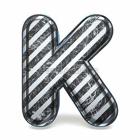 striped steel black scratched font letter