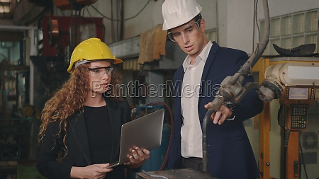 maintenance engineer man and diverse female