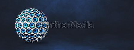 speakers sphere on a dark blue