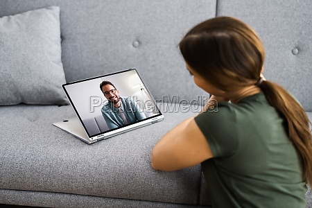 online dating using videochat and computer