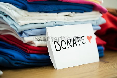 clothes donation and social service