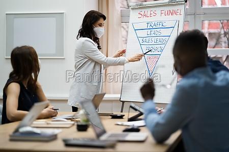 diverse business team training