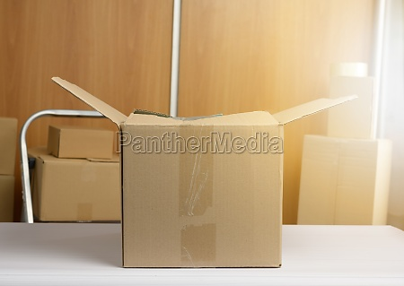 lot of brown cardboard boxes the