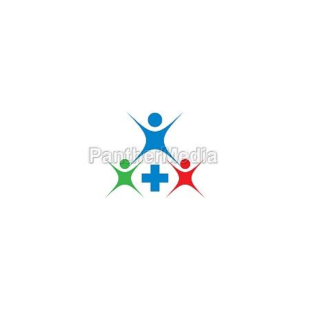 community care teamwork concept logo