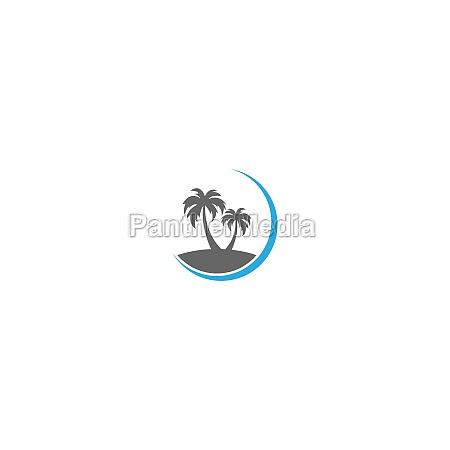 palm beach vitamin logo concept