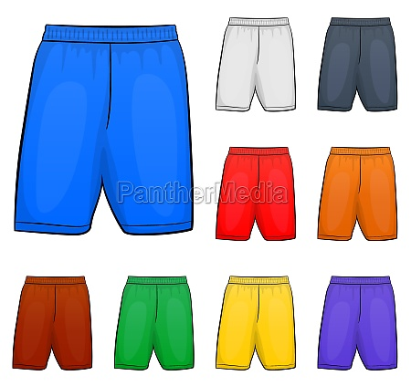 vector short clipart set design