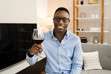 man drinking wine alcohol