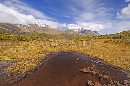 colorful tarn on a high mountain