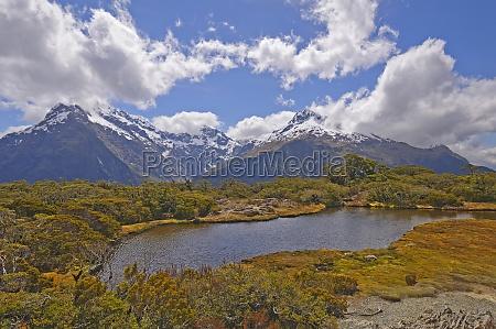 alpine vistas on a high mountain
