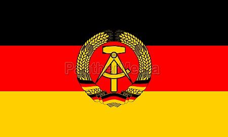 flag of the gdr