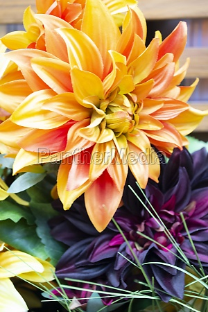 yellow artificial cloth chrysanthemum artificial fabric