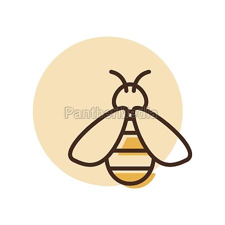 honey bee vector flat icon