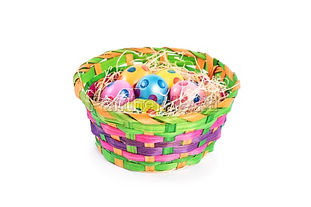 colourful easter eggs with polka dots