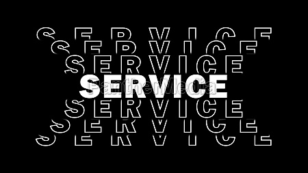 service white lettering with repeating