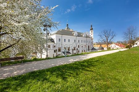 renaissance castle in town pardubice