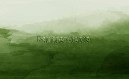 panoramic texture of realistic green watercolor