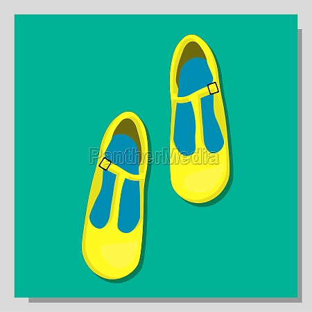 shoes isolated fashionable shoes illustration children