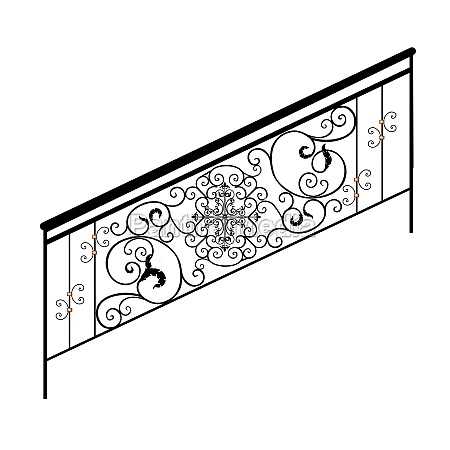sketch metal railings forged element fence