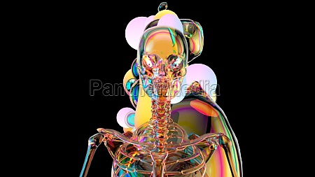 3d illustration concept of a xray