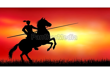 knight on a horse on the