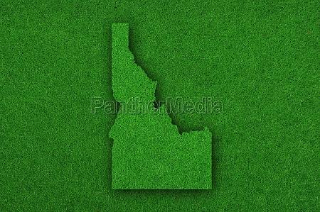 map of idaho on green felt