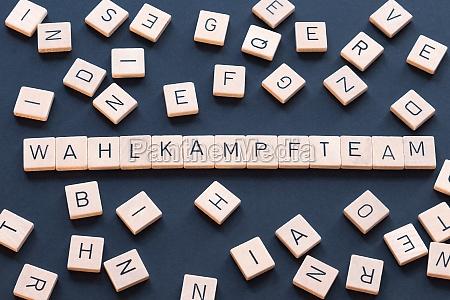 wahlkampfteam is a german term used