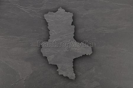 map of saxony anhalt on dark