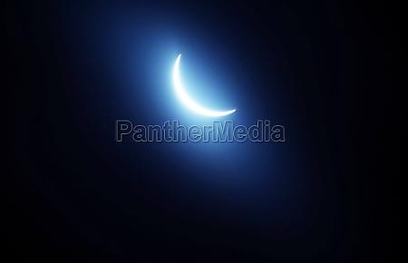 shining moon celestial body and earth