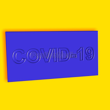 covid 19 word or text