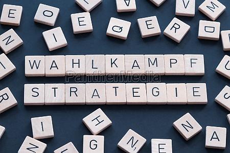 wahlkampfstrategie is a german term used
