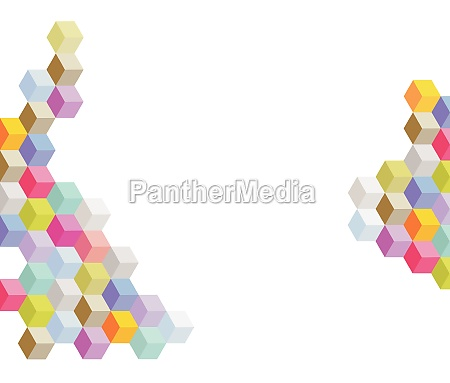 colored cubes background elements illustration