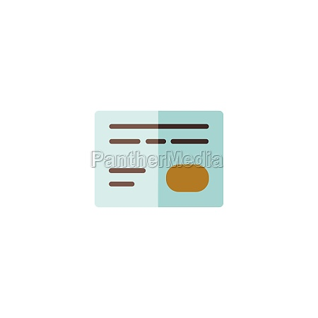 credit card payment options flat color
