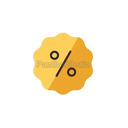 discount tag percent label flat color