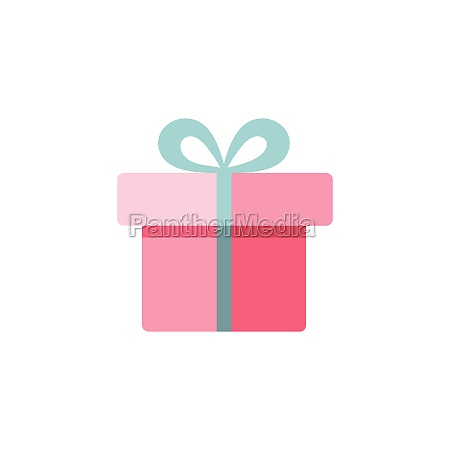 gift box with ribbon flat color