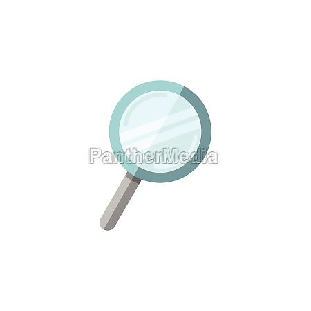 magnifying glass search and analytics flat