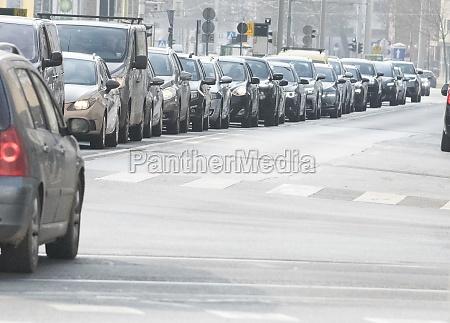 traffic jam in the city